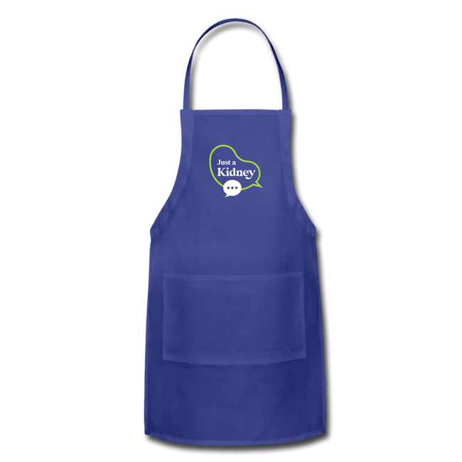 Adjustable Apron - royal blue