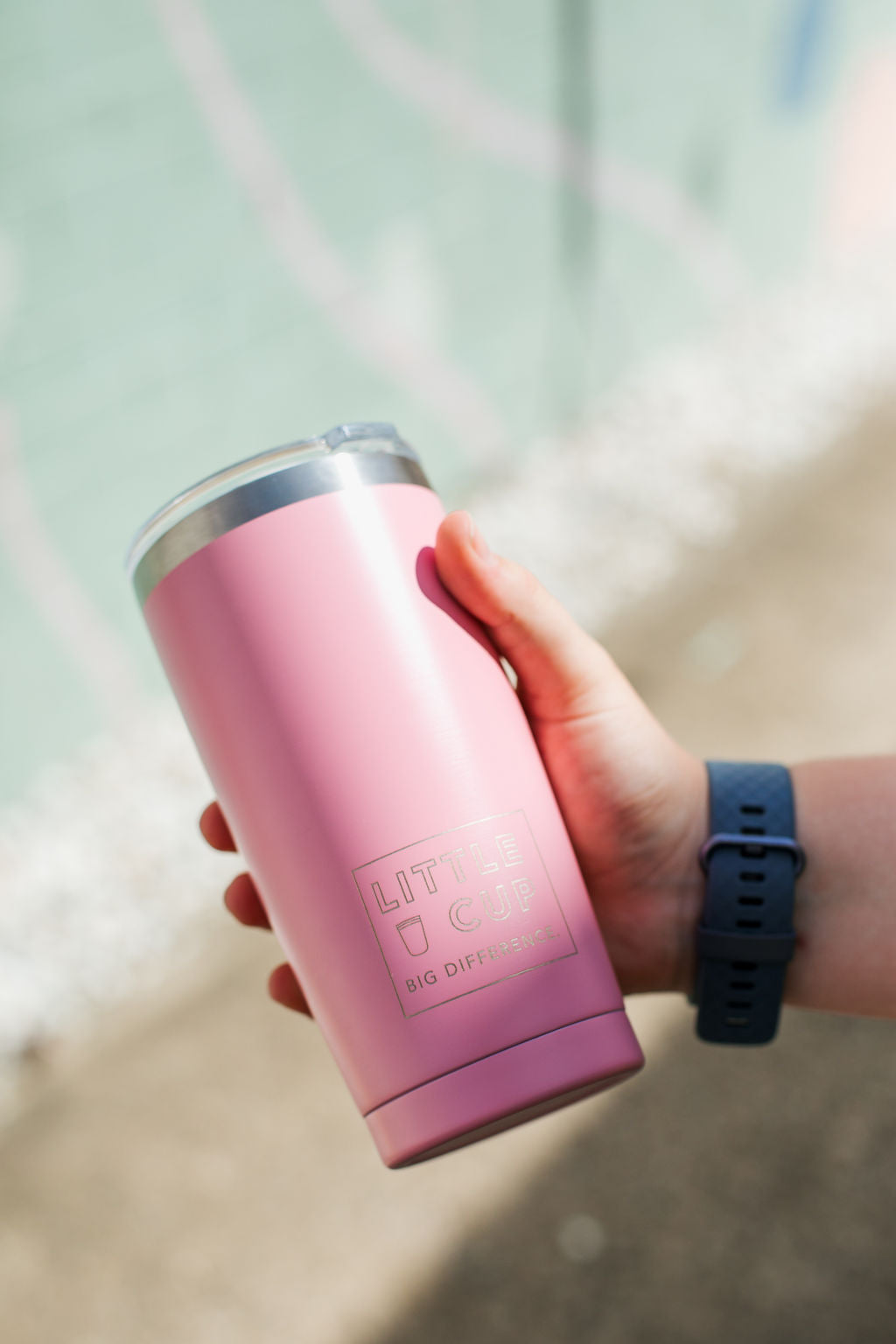 Pink Big Little Cup.