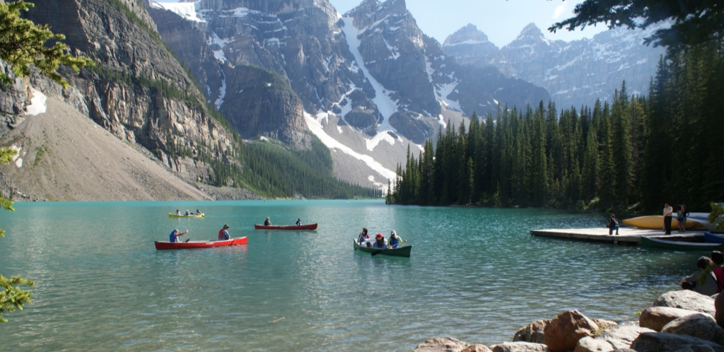 Stunning beauty of Lake Moraine