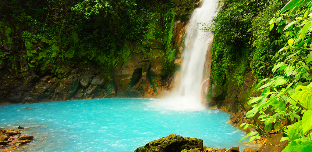 Waterfall on RIo Celeste in Costa Rica