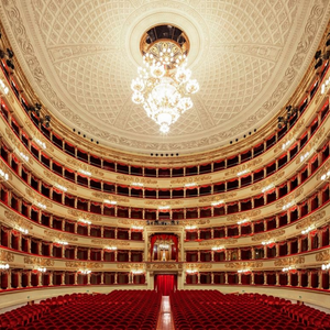 Inside of Teatro La Scala Mailand Aussen in Milano