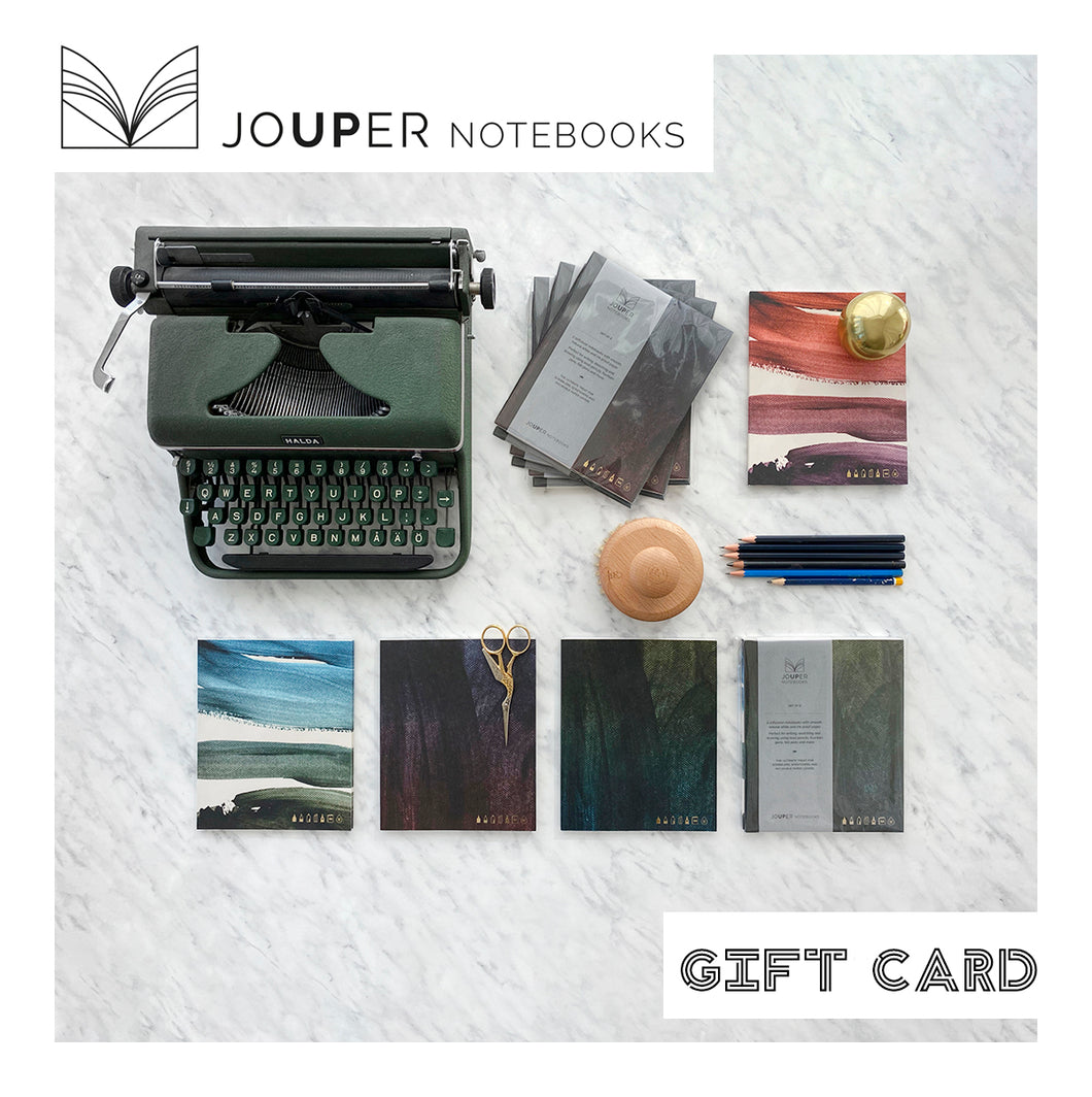 JOUPER Notebooks Gift Card