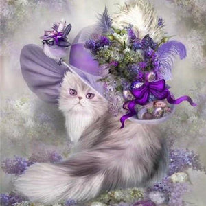 Diamond Painting Cat with hat