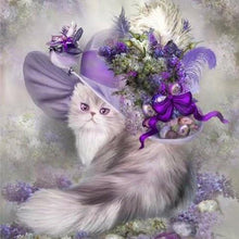 Load image into Gallery viewer, Diamond Painting Cat with hat
