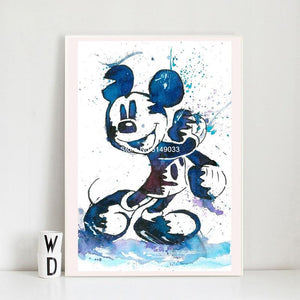 5D DIY Diamond Painting Mickey Mouse Minimalist Watercolor