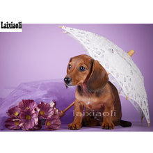 Load image into Gallery viewer, 5D DIY Diamond Painting Animal Dachshund Dog