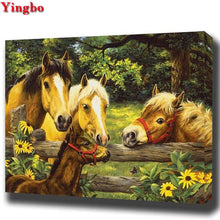 Load image into Gallery viewer, 5D DIY Diamond Painting three horses