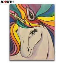 Load image into Gallery viewer, 5D DIY Diamond painting White unicorn
