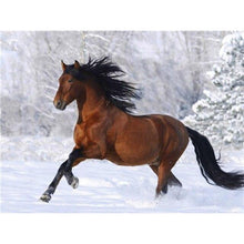 Load image into Gallery viewer, 5D Diamond Painting Horse Animal Winter Snow