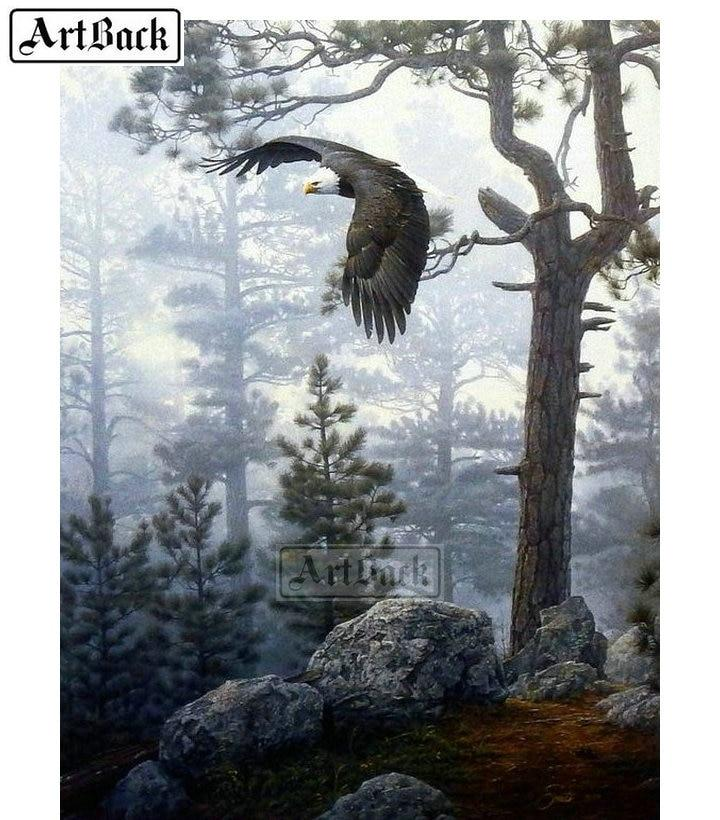 5D Diamond Painting Woods Eagle