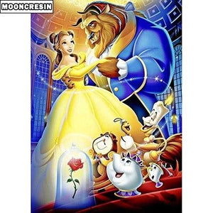Diamond Painting beauty and beast dancing roses