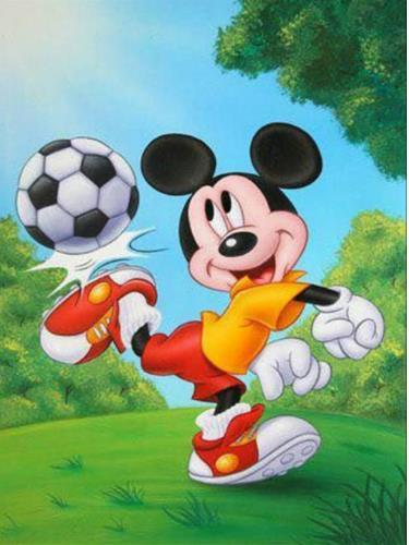 5d Diamond Painting mickey mouse football