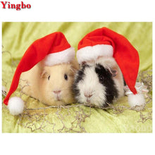 Load image into Gallery viewer, 5d diy Diamond Painting Christmas Guinea Pig