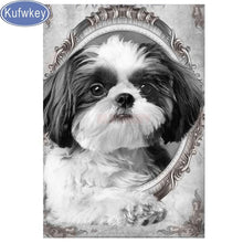 Load image into Gallery viewer, 5d diy diamond painting Shih Tzu dog