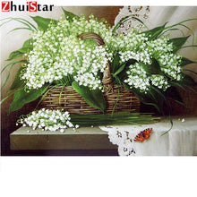 Load image into Gallery viewer, 5d Diamond Painting mosaic white flower