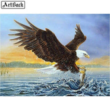 Load image into Gallery viewer, Diamond Painting eagle flying sea