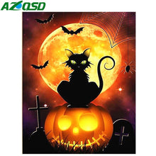 Load image into Gallery viewer, Diamond Painting Cat Cartoon Pumkin