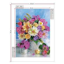 Load image into Gallery viewer, Diamond Painting beautiful flowers pink and yellow
