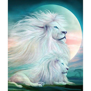 Diamond Painting  White Lion King Spirit