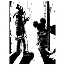 Load image into Gallery viewer, Diamond Painting Cartoon Mickey Mouse black white