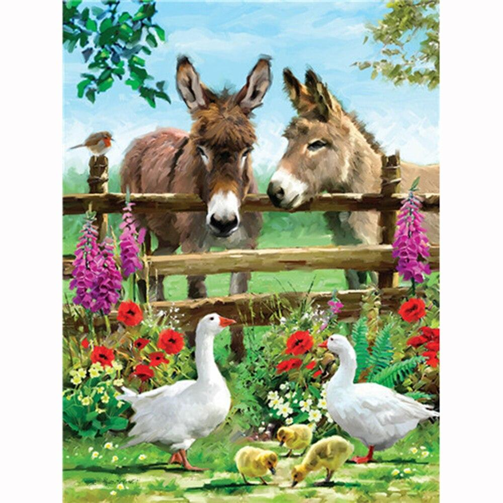 Diamond Painting donkeys farm