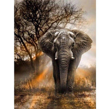Load image into Gallery viewer, Diamond Painting elephant staring