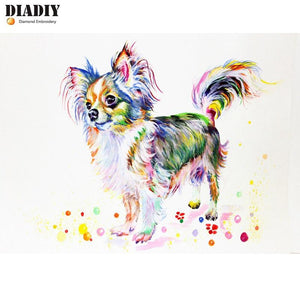 Diamond Painting dog chihuahua colorful