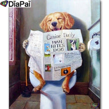 Load image into Gallery viewer, Diamond Painting Animal dog toilet