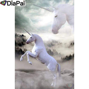 Diamond Painting Animal white unicorns