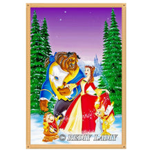Load image into Gallery viewer, Diamond Painting Beauty and Beast winter