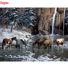 Load image into Gallery viewer, DIY Diamond Painting Horse waterfall