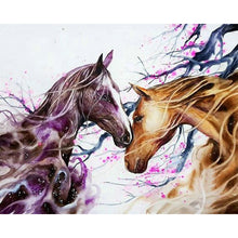 Load image into Gallery viewer, diamond painting couple love horses