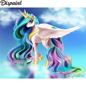 Diamond Painting colorful Cartoon unicorn