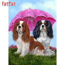 Load image into Gallery viewer, Diamond Painting Cavalier King Charles Spaniel dog