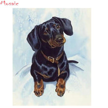 Load image into Gallery viewer, diamond painting dachshund dog