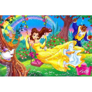 diamond painting Beauty and the Beast wood