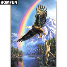 Load image into Gallery viewer, diamond painting Eagle Rainbow mountain