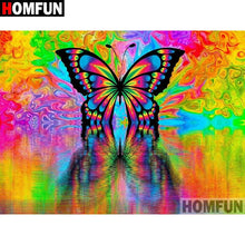 Load image into Gallery viewer, Diamond Painting colorful butterfly
