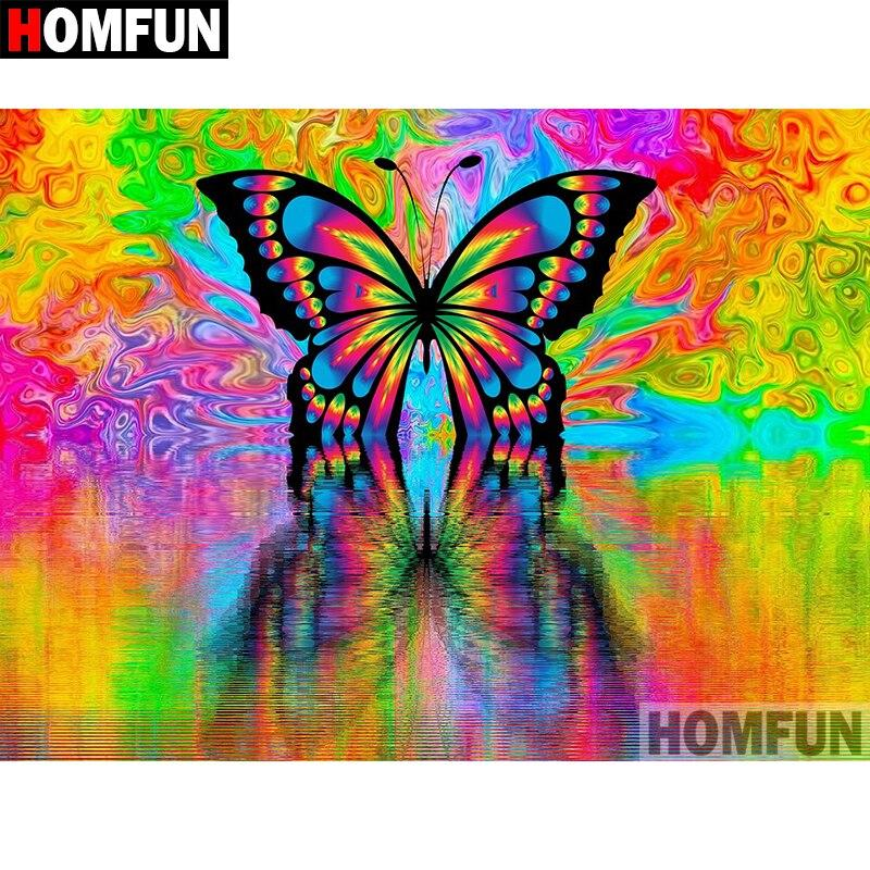 Diamond Painting colorful butterfly