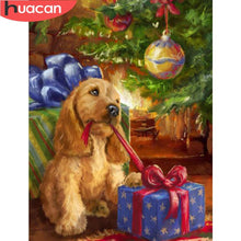 Load image into Gallery viewer, Diamond Painting Dog Christmas Gift