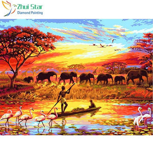 Diamond Painting african elephants