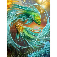 Load image into Gallery viewer, Diamond painting chinese fishes