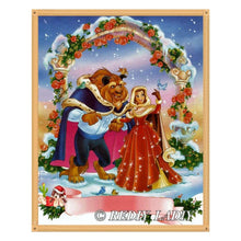 Load image into Gallery viewer, Diamond Painting beauty and beast snow