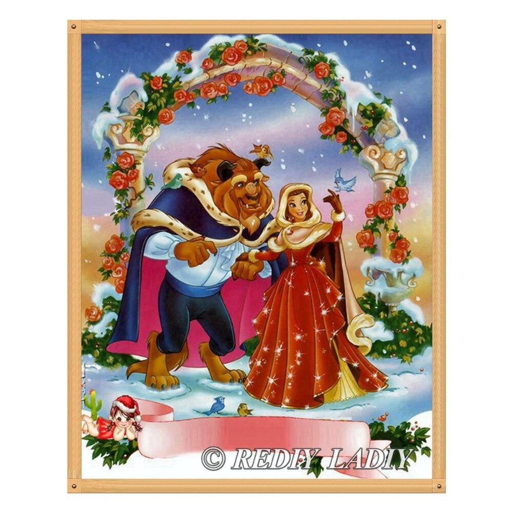 Diamond Painting beauty and beast snow