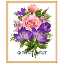 Load image into Gallery viewer, Diamond Painting Bouquet of Flowers