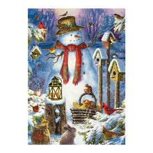 Load image into Gallery viewer, diamond painting Snowmen and animals Christmas Cartoon