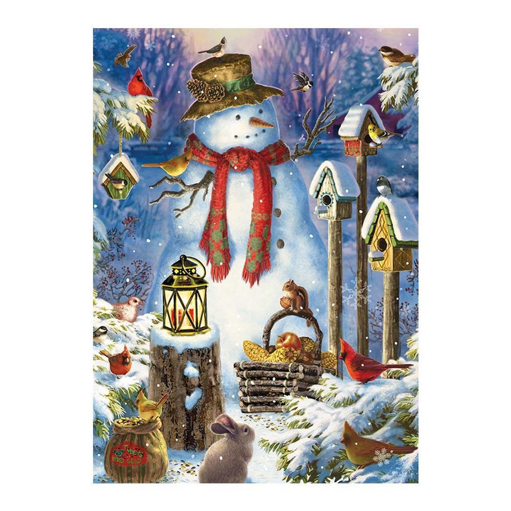 diamond painting Snowmen and animals Christmas Cartoon