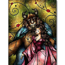 Load image into Gallery viewer, Diamond Painting Beauty and the Beast hug