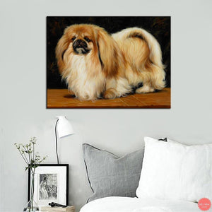 diamond painting dog Pet Cute Pekingese