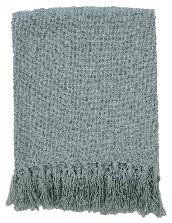 Boucle Throw - Duck Egg Blue